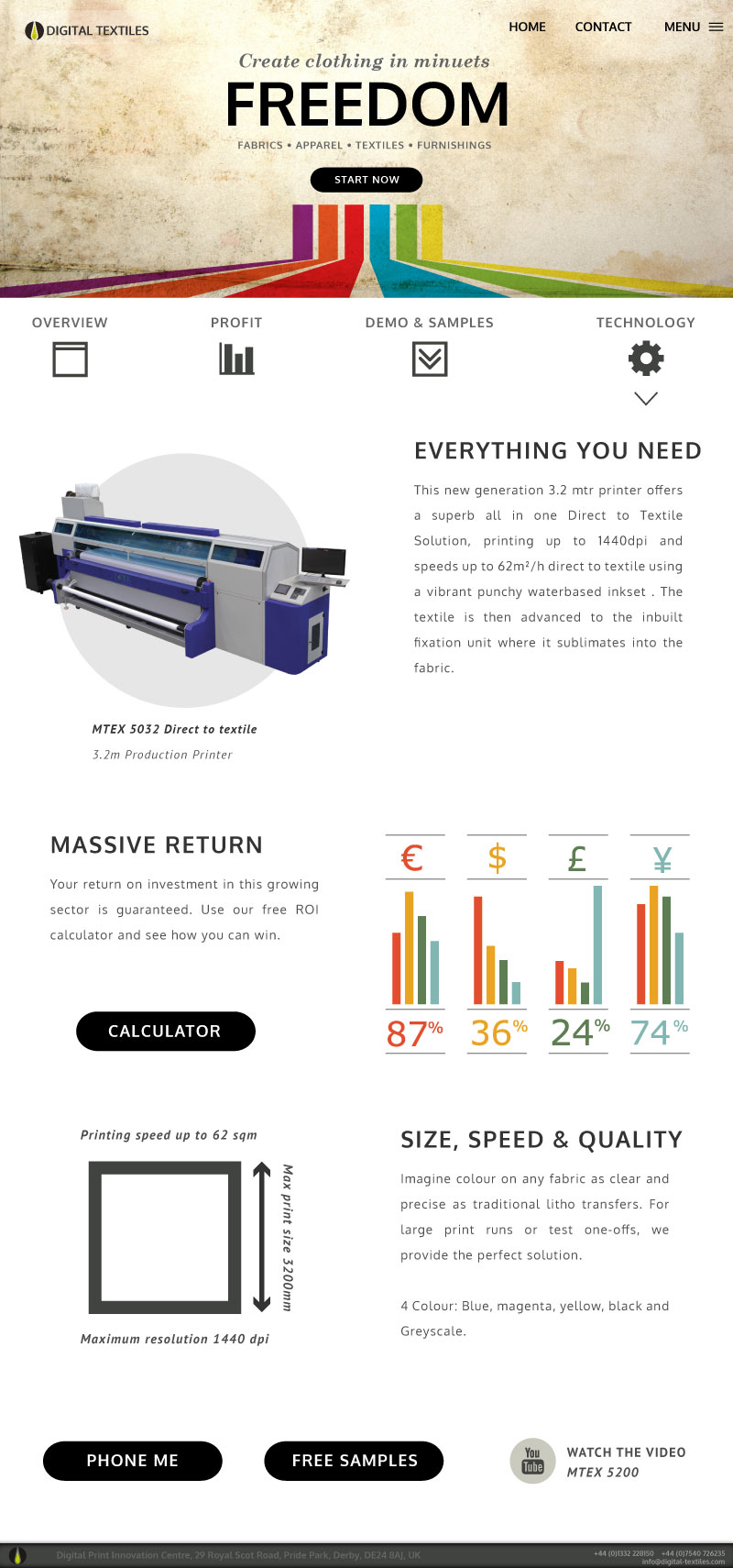 textile printer website