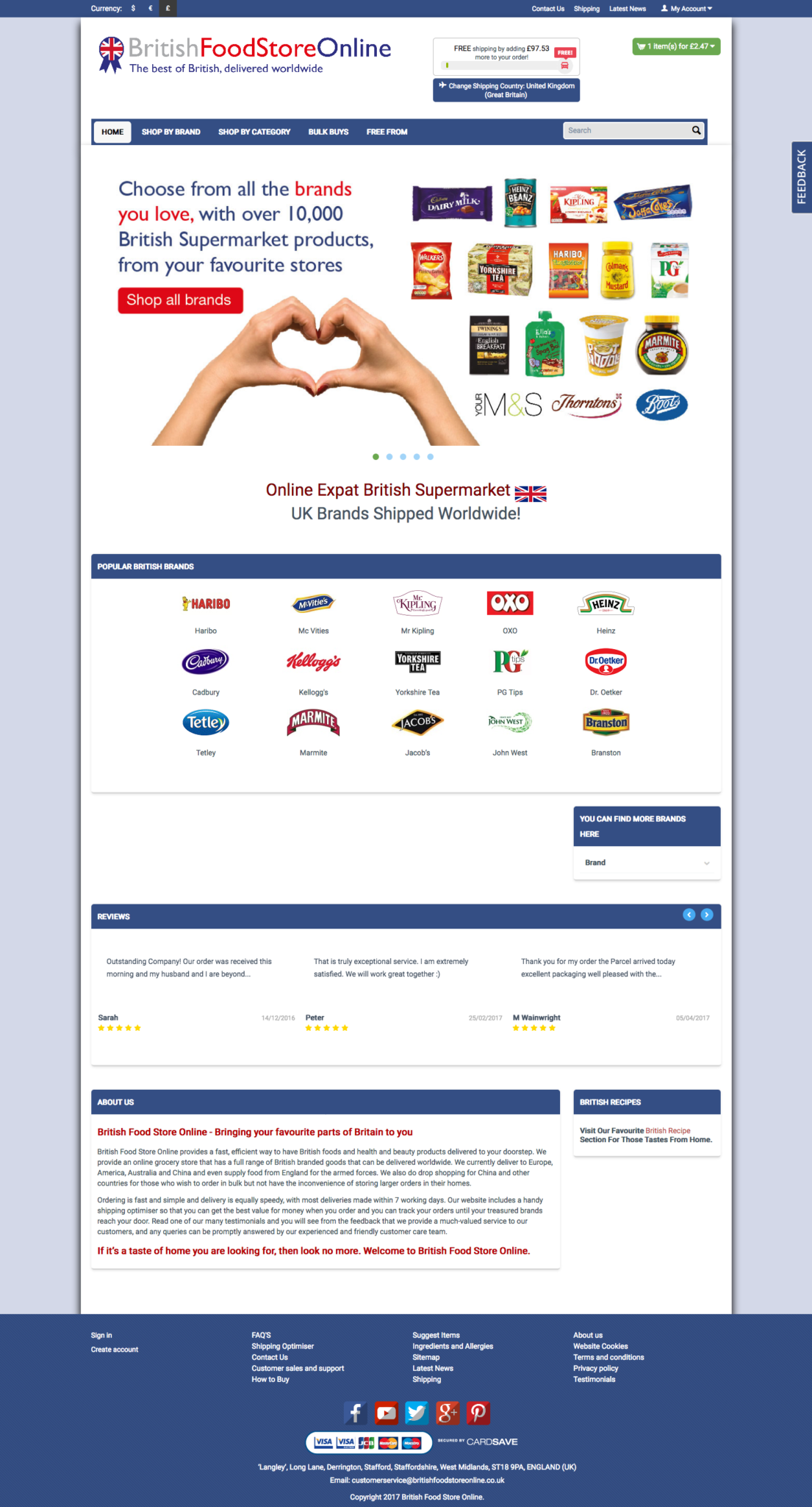 british food store online