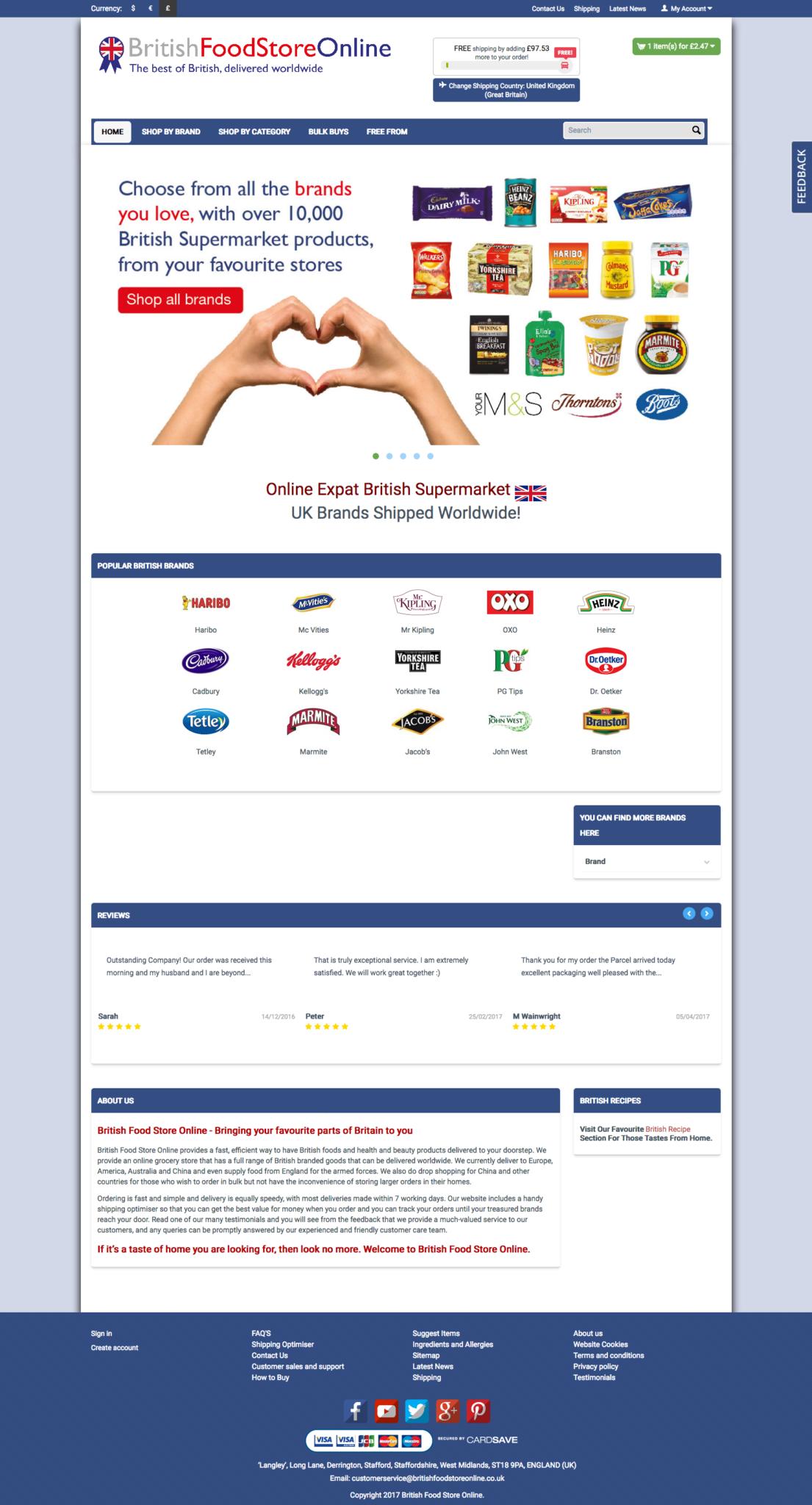 british food store online