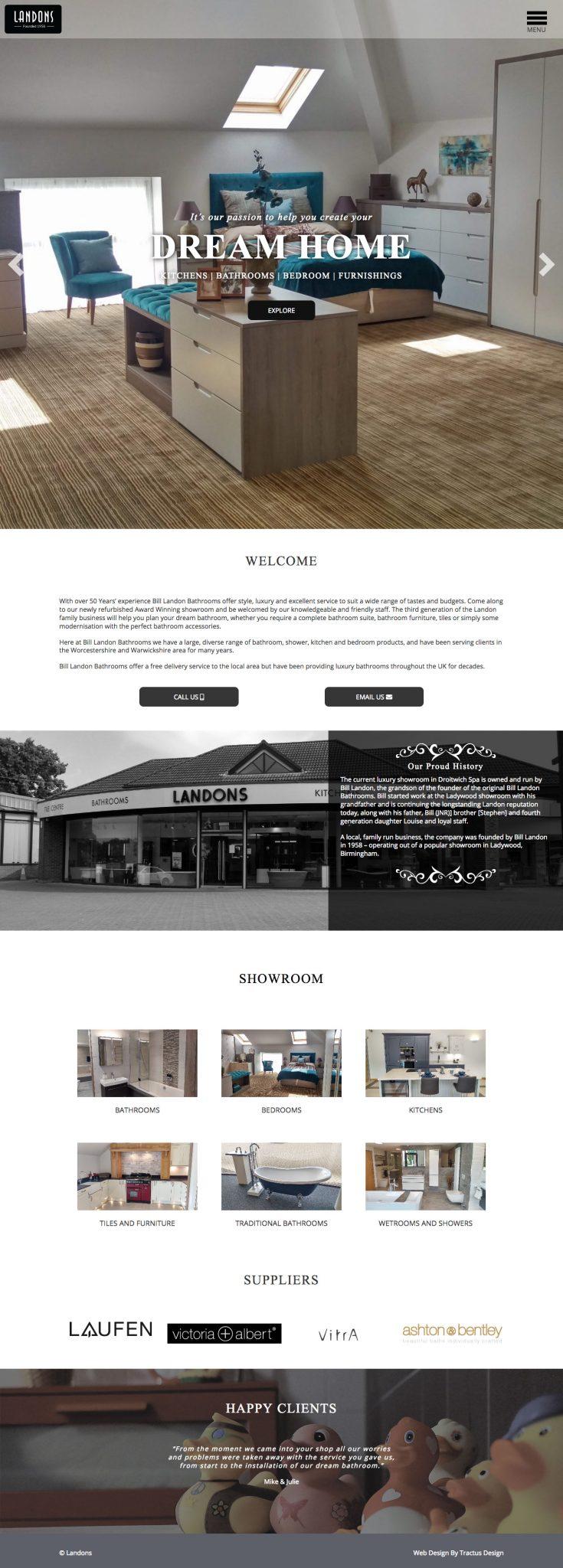landon interiors custom theme